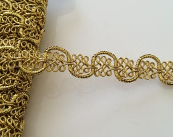 Gold Ribbon 13 mm sewing for your home