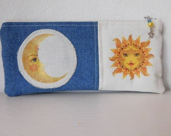 Moon and Sun meet pencil case