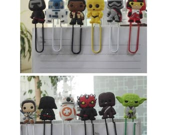 Yoda Paper Clip Star Wars Paper Clips Sweet Birthday Gift For Kids Office Accessories Gifts (12) Star Wars Character Cartoon Paper Clips
