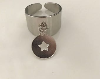 Silver ring 925 with Star Medal / Marc Deloche Style