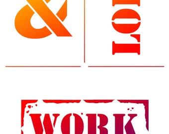 Loft & Work, stencil, handicraft accessories, tool, Viva Decor, stencil technology, stenciling, Stencilschablone, stencil, plastic stencil