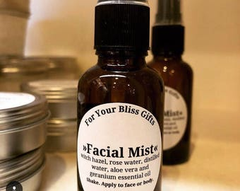 Facial Mist: Rose Water and Geranium