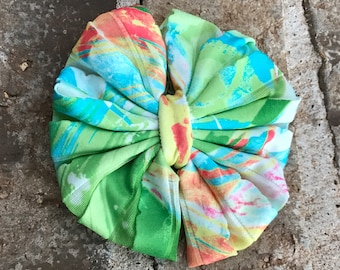 Green and Blue Summer Splash Ruffle Mini