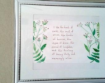 I like... Watercolor framed