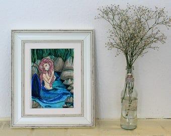 Mermaid Lagoon ~Original painting~ watercolour Illustration