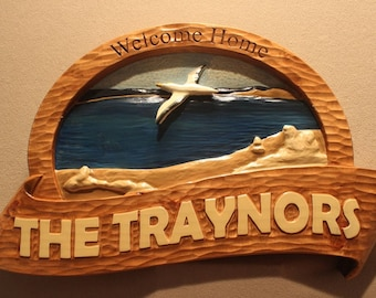 CUSTOM CARVED SIGNS | Home signs | House signs | Cabin signs | Cottage signs | Chalet signs | Beach house signs | Vacation home signs