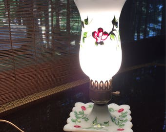 Adorable vintage with flowers Hurricane lamps