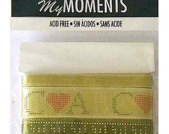 Pack of 3 times My creative cardmaking scrapbooking khaki ribbons
