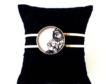 Bracelet cabochon - Retro Vintage Glamour