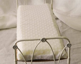 "Artisan Made Barbie 1:6 Scale Wrought Iron Look Bed ""Abbey"""