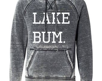 Lake Bum. Hoodie, Plus Size Fashion, Beach Life, Summer, Lake Life, Plus Size Shirt, Vacation Shirt, Beach Bum Hoodie, Hoodie