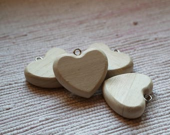 Wooden heart Valentine's day ornament. Hanging decoration heart. Price for 1 heart