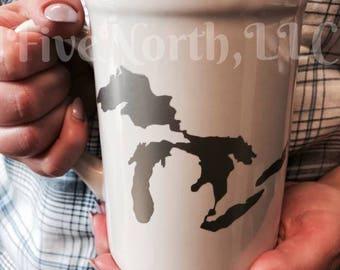 16 oz. MI Great Lakes Mug