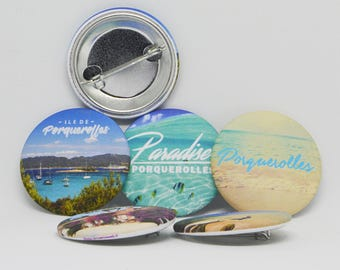 Set of 4 Badges Porquerolles