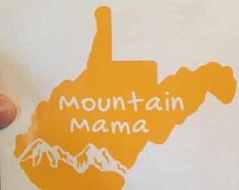 WV Mountain Mama Vinyl Decal