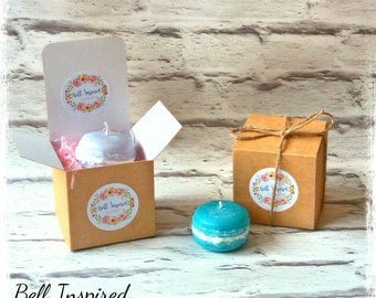 macaron candle, stocking filler, small gift, secret santa, gift for friend, gift for her, sister gift, daughter gift, christmas gift