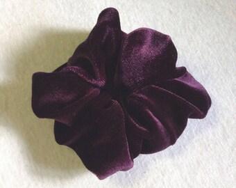 Luxury purple velvet fabric hair scrunchie,Hair Accessory,Hair tie,Ponytail holder,Bun holder,Gift