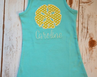 Sand Dollar Applique Dress- Portion of sales donated to Cure SMA