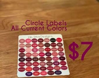 Current Colors Circle Labels