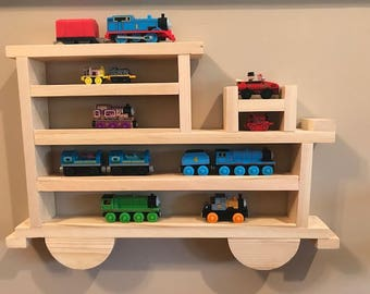 Wooden Wall Shelving/Storage Case Or Rack For Thomas And Other Small Trains,  Cars