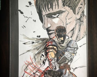 Berserk anime / manga Guts 8.5 x 11 gloss art print