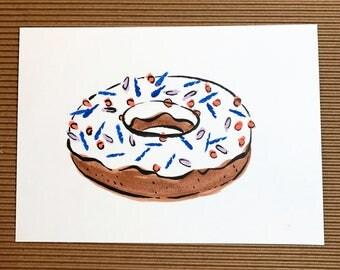 Sprinkle Doughnut Painting, Food Art