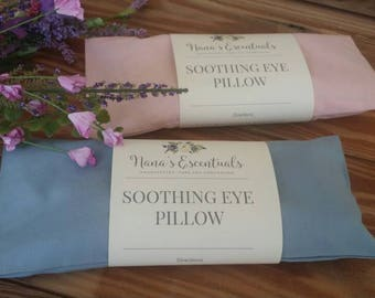 FREE SHIP-Sinus Headache Relieving -Aromatheraphy-Cotton Cover-Flax Seed-Eucalyptus,Peppermint & Spearmint-Essential Oil-Eye Pillow
