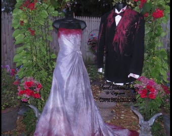 Wedding dress tim burton Etsy