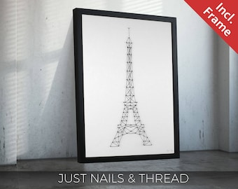 LA TOUR EIFFEL - Limited Edition 5m band and 86 nails - Paris Eiffel Tower souvenir / France / France / Louvre / memory / / travel