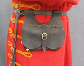 Medieval leather bag medieval purse medieval accessories fantasy bag Larp bag SCA bag fantasy purse larp purse  medieval reenactment