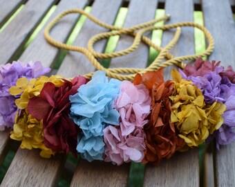 Multicolor Preserved Flower Belt