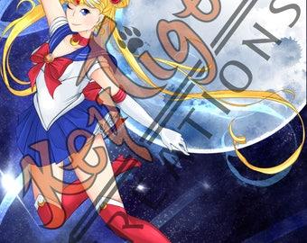 Sailor Moon series Sailor scouts - A3  11x17 prints