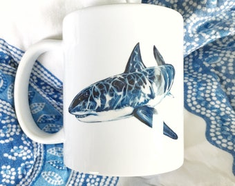 Great White Shark Siehorse Fine Art Mug, 11 oz.