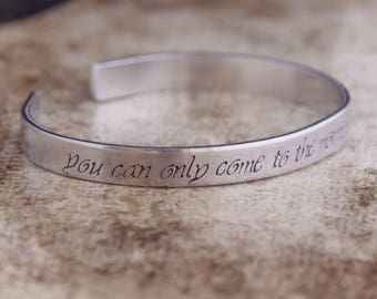 You Can Only Come To The Morning Through The Shadows / Literary Jewelry / Lord Of The Rings Jewelry / Tolkien Jewelry