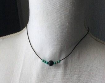Lava Stone and Mangnesite Essential Oil Diffuser Necklace