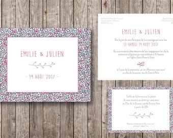 Liberty wedding invitation