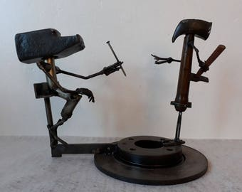 THE GIFT - Scrap Metal Art Sculpture by the Atilleul