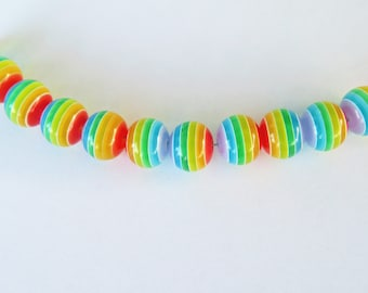 25 rainbow beads - gay pride beads - LGBT beads - make your own bracelet