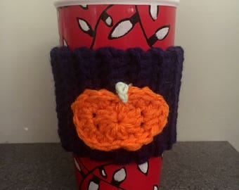 Pumpkin Coffee Cup Cozy