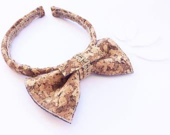 cork bow headband