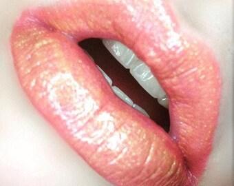 Dipped Gold  Diamond Lip Topper - Shimmering Lip Gloss, Lipstick Lip Topper, Gold LipGloss, Gold Gloss, Lip Topper Gloss. Shimmer Gloss