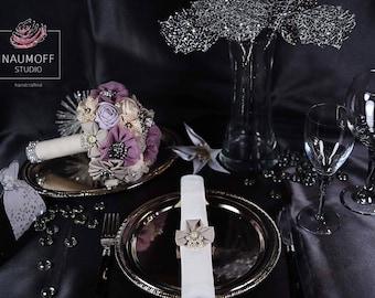 Napkin Rings, Handmade Wedding, Vintage Wedding, Pearl Napkin Ring