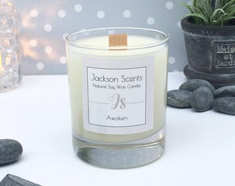 Awaken Natural Soy Wax Wood Wick Candle