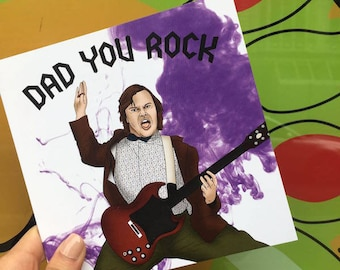 "Fathers Day Card ""Dad You Rock"""