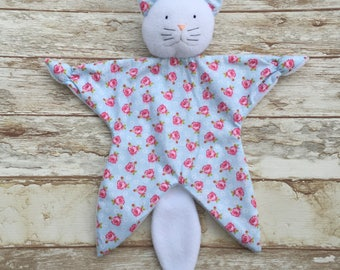 Doudou Cat pattern flowers roses liberty