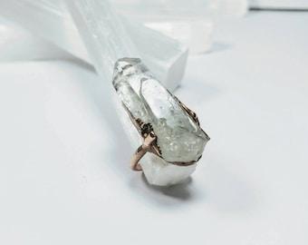 Raw 'Soul Mate' Quartz Crystal Ring