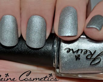 Bright Metal - Silver Metallic Matte Nail Polish