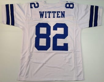 Dallas Cowboys Jason Witten UNSIGNED CUSTOM Made White Jersey