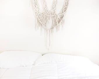 t te de lit macrame etsy. Black Bedroom Furniture Sets. Home Design Ideas