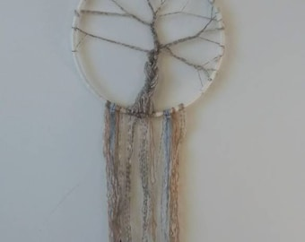 Tree of life Dreamcatcher in browns/blues